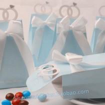 wedding photo - Tiffany Ring Wedding Favor Box, Candy Bag BETER-TH021