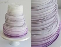 wedding photo - Purple Ombre Wedding Cake