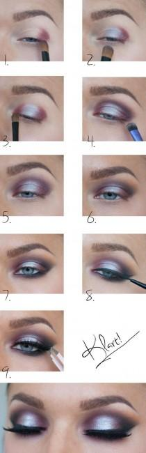 wedding photo - Silver And Red Eye Shadow Tutorial