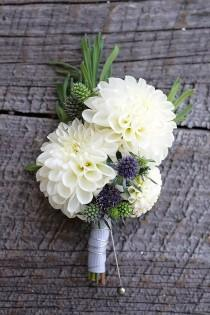 wedding photo - 24 Wedding Bouquet Ideas & Inspiration - Peonies, Dahlias, Lilies And Hydrangea