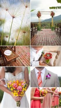 wedding photo - Coral, Green, Orange Costa Rica Destination Wedding