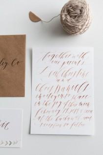 wedding photo - Modern Wedding Calligraphy From Written Word Calligraphy