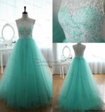 wedding photo - 2014 Green Wedding Party Bridesmaid Dress Prom Graduation Ball Evening Long Gown