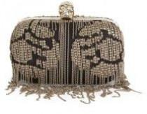 wedding photo - Alexander McQueen Chain-Trimmed Textile Skull Box Clutch
