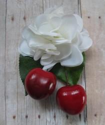wedding photo - Rockabilly Cherry hair Cluster Clip - Carmen Miranda Style - Burlesque - retro -