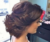 wedding photo - Romantic And Loose Updo.