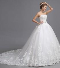 wedding photo - Beading Sweetheart Strapless Bride Dress