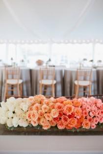 wedding photo - Ombre Wedding Flowers
