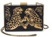 wedding photo - Valentino Cheetah Wood & Metal Clutch