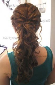 wedding photo - 10 Lovely Ponytail Hair Ideas For Long Hair