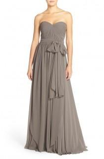 wedding photo - Women's Jenny Yoo 'Mira' Convertible Strapless Pleat Chiffon Gown