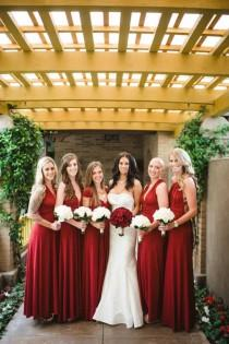 wedding photo - Romantic Scarlet Red California Wedding
