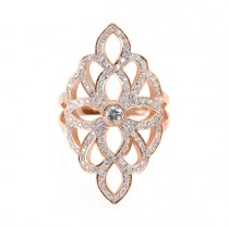 wedding photo -  Sophia Lace Diamond Ring - Diamond Skin - Wide Diamond Ring