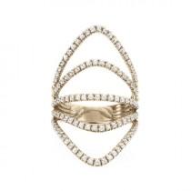 wedding photo -  Curvy Diamond Skin Diamond Ring, Diamonds Shield Lace Diamond Ring, handmade by Silly Shiny Diamonds