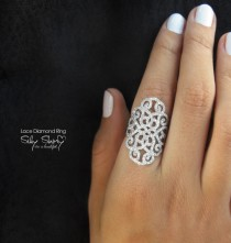 wedding photo -  Duchess Lace Diamond Ring