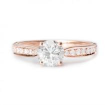 wedding photo -  Pave Diamond Engagement Ring, 14K Gold Ring, 0.45 TCW Diamond Ring, Crown Ring, Unique Engagement Ring, Vintage Rings