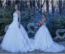 wedding photo - Gorgeous 2016 Lace Wedding Dresses Beads Tulle A Line Fall A-Line Chapel Train Bridal Ball Gowns Fall Strapless Vestido De Novia Online with $109.8/Piece on Hjklp88's Store