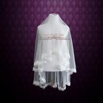 wedding photo - Floral Lace Edge Mantilla Veil