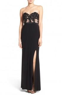 wedding photo - Jump Apparel 'Lucia' Strapless Lace Bodice Gown