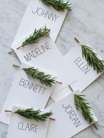 wedding photo - Rosemary Sprig Place Cards