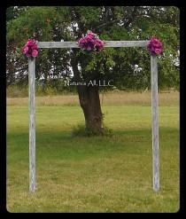 wedding photo - DIY Wedding Arch/Country Wedding Decor/Rustic Wedding Arch/Outdoor Wedding Arch/Weathered/Shipping Included