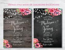 wedding photo - Printable Wedding Invitation, DIY Wedding Invitation, Rustic Wedding Invitation, Chalkboard Wedding Invitation, DIY, Barn, Wedding, DIY