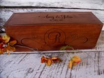 wedding photo - Wine Box, Personalized Wine Box, Wine Box Gift, Wine Box Ceremony, Wine Box for Wedding, Rustic Wedding Wine Box, Love Letter Ceremony