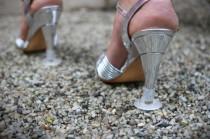 "wedding photo - 14 pair ""Heel protectors"" round base, shoes, stilettos, wedding, heel protector, high heel protectors, high heel, bridesmaid gift, party"