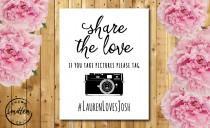wedding photo - PRINTABLE Wedding Hashtag Sign // 8x10 // Wedding Hashtag // Hashtag Sign // Vintage Sign