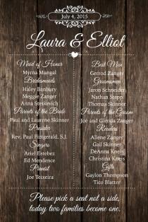 wedding photo - Rustic Barn Wood Wedding Program