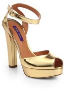 wedding photo - Ralph Lauren Valeria Patent-Leather Peep-Toe Pumps