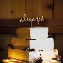 wedding photo - Rustic  Wedding Cake Topper - Personalized Monogram Cake Topper - Mr and Mrs - Cake Decor - Bride and Groom - Always