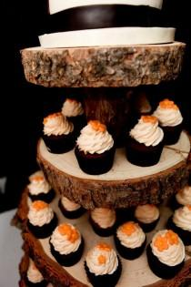 wedding photo - Rustic Wood Tree Slice 4-tier Cupcake Stand for your Wedding, Event, or Party (As seen on HGTV.com and The Tomkat Studio)