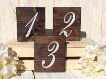 wedding photo - Wedding Table Number, Rustic Table Number, Table Numbers, Rustic Wedding Decor, Wedding Reception Decor