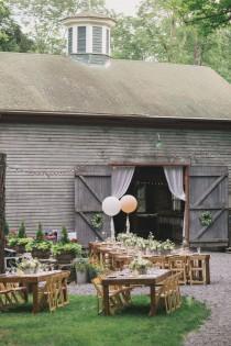 wedding photo - Rustic Summer Wedding At Roxbury Barn