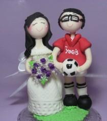 Soccer Cake Topper Custom Wedding Sports