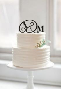 wedding photo - Monogram couple name cake toper,initial cake topper,wedding cake topper,cake topper wedding,unique cake topper,rustic bride and groom topper