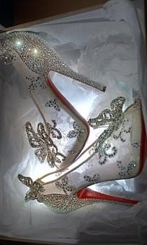 wedding photo - Christian Louboutin Releases Disney's Cinderella-inspired Shoes!