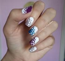 wedding photo - Lace Polka Dot Nails