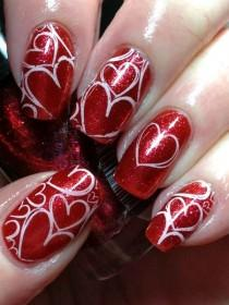 wedding photo - 50 Best Valentines Day Nail Art Designs