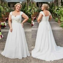 wedding photo - Elegant Plus Size Wedding Dresses Sweetheart Beads Ruched Lace Applique Ball Gowns Sweep Train Lace-Up Spring Sleeveless Large Bridal Dress Online with $105.16/Piece on Hjklp88's Store