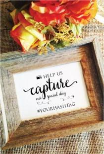 wedding photo - wedding hashtag sign (Lovely) (Frame NOT included)  hashtag wedding sign