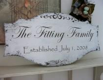 wedding photo - FAMILY NAME SIGNS, Wedding Signs, Established Signs, Personalized Signs, 27 x 14