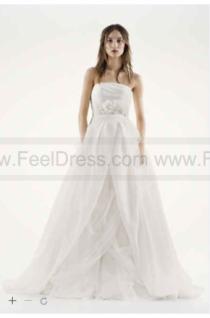 wedding photo - White by Vera Wang Textured Organza Wedding Dress VW351178