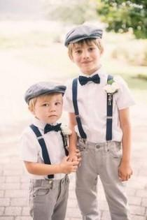 wedding photo - Vintage Look Ring Bearers For Rustic Garden Wedding Ideas