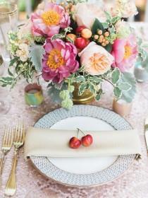 wedding photo - Fruit & Vegetable Place Settings
