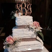 wedding photo - Wedding Cake Topper, Rustic Wedding Decor, Couple Monogram, Rustic Cake Topper, Country Wedding, Wooden Monogram Cake Toppers