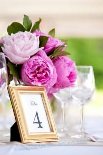 wedding photo - Beautifully Beaded Gold Photo Frame/Place Holder Wedding Party Decoration...