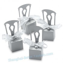 wedding photo - 銀色椅子喜糖盒子 席位卡爆款結婚桌卡時尚婚慶用品BETER-TH002 BETER-TH002...
