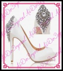 wedding photo - Elegant White Ivory Diamond High Heel Wedding Open toe Shoes 5.5inch from Reliable shoes over the knee suppliers on Aido Crystal